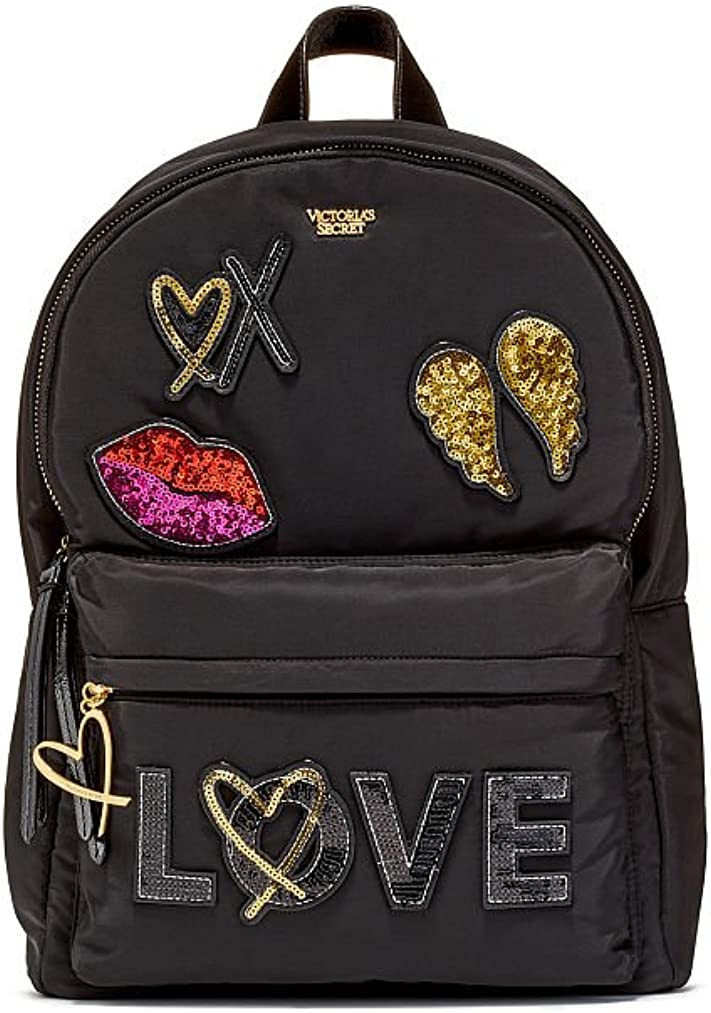 Black Runway Patch City Backpack Black Victorias Secret NEW