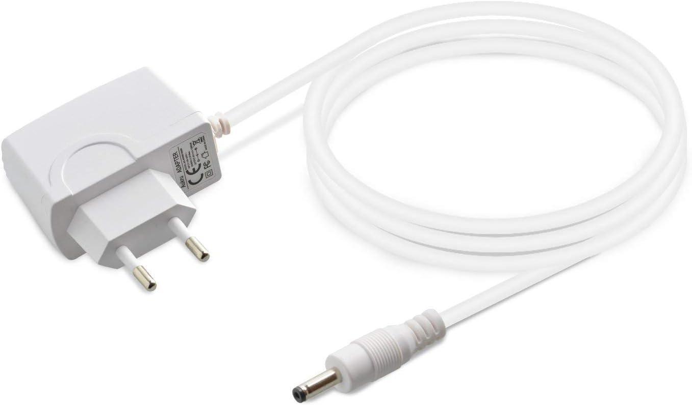 Aukru 6V Adaptador Corriente/Cargador para Tensiómetro de Omron M2, M3, M3W/ HEM-7202-E (V), M6 Comfort/HEM-7223-E, M6W / HEM-7213-E, M10-IT/HEM-7080IT