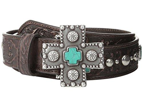 - Ariat Women's Turquoise Cross Studded Belt Brown XL (42