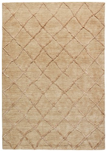 Stone & Beam Modern Textured Pattern Farmhouse Wool Area Rug, 5' x 7' 6