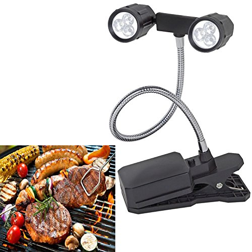 360°Rotation Adjustable LED Barbeque Grill Light Chef Buddy Adjustable Outdoor BBQ Clamp Lamp - Outdoor B&q Lighting