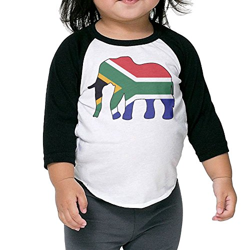 QPKMRTZTX0 Boys Girls Kids & Toddler Elephant South Africa Flag-1 Long Sleeve Tees 100% Cotton by QPKMRTZTX0