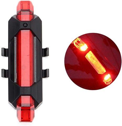 RYHTJN Luz de Bicicleta USB Recargable 3 Modos Luz Delantera de ...