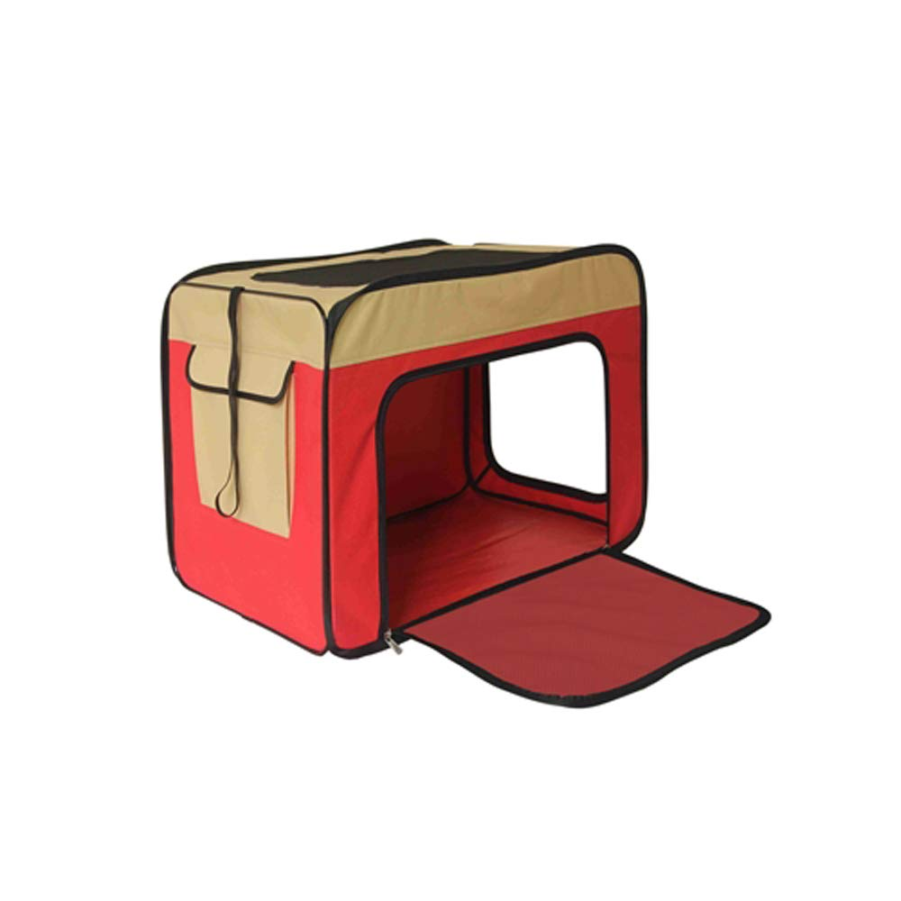 ALEKO PCS013RD Small Heavy Duty Indoor and Outdoor Portable Pop Up Dog Crate Home Shelter 21 x 12.5 x 14 Inches Red