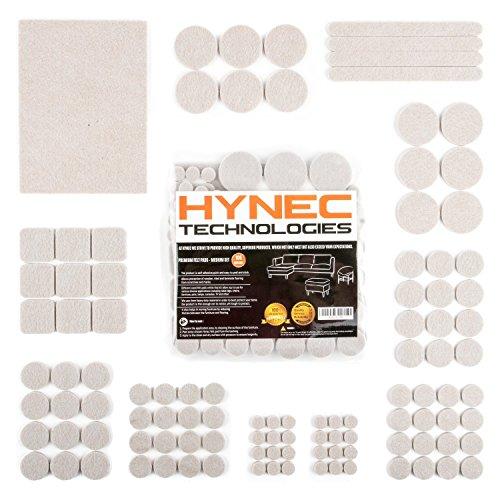 Hynec Almohadillas de Fieltro Adhesivo Premium para Muebles Set de Tamano Medio Diferentes Formas Protector de Suelo Autoadhesivo