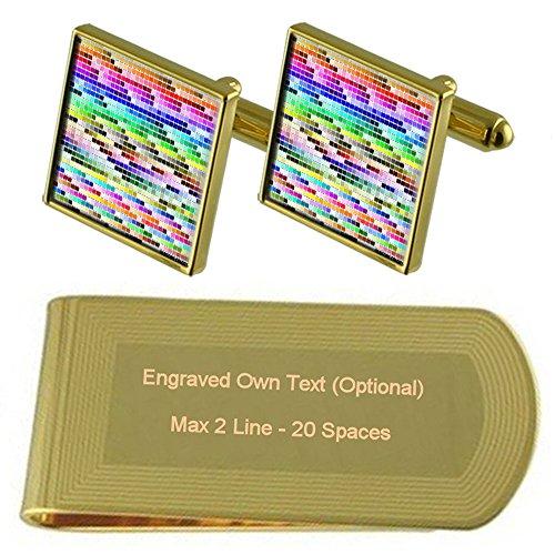 Gift Gold Colour Chart Money Pantone Cufflinks Engraved Clip tone Set T8Edwq