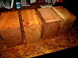 A2ZSale 4 Beautiful Black Cherry Kiln Dried Bowl Blanks Turning Block Wood Shop Small Projects Ready to Finish Turn Approximately 6'' X 6'' X 3''