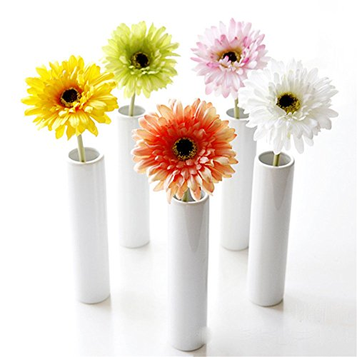 Crt Gucy Artificial Flowers 5 Pcs Artificial African Daisy Simulation Chrysanthemum Sunflowers Bouquet Bride Bridesmaid Holding Flowers For Home Hotel Office Wedding Party Garden Craft Art Decor