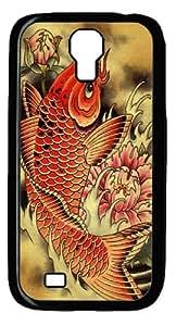 Carp Polycarbonate Hard Case Cover for Samsung Galaxy S4/Samsung Galaxy I9500 Black