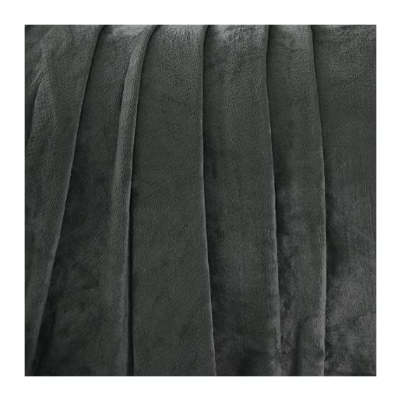 "Exclusivo Mezcla Large Flannel Fleece Velvet Plush Throw Blanket – 50"" x 70"" (Grey) - 280GSM FLANNEL FLEECE- The flannel fabric we choose is originally made from 100% microfiber polyester and brushed to create extra softness on both sides,the throw is designed to be simple but elegant EXTRA LARGE- This throw can be a very useful item to have on hand. Compare with standard size ones, this throw blanket measured by 50"" x 70"" suits better for adults. Enough weight to keep you comfortable, yet light enough to keep you from breaking out in sweat. VERSATILE- Made of premium flannel, this plush throw is super soft, durable, warm and lightweight. It's wrinkle and fade resistant, doesn't shed, and is suitable for all seasons. - blankets-throws, bedroom-sheets-comforters, bedroom - 51P32Id5MUL. SS570  -"