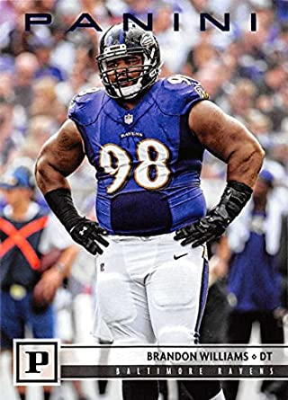 2018 Panini NFL Knight Blue  28 Brandon Williams Baltimore Ravens Blaster  Exclusive Parallel Football Card 8e420fdac