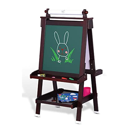 Amazon.com: Childrens Solid Wood Drawing Board liftable Easel ...