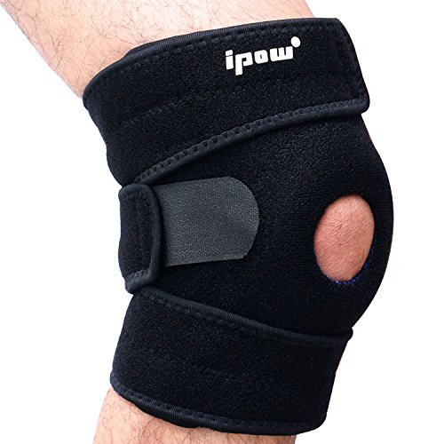 IPOW Quadruple Spring Open Patella Support Stabilizer, FDA Registered Wraparounds Knee Brace Ideal For Acute Or Chronic Knee Pain From Arthritis, Sprains, Sports Injury Recovery Or Post-Surgery Rehabilitation