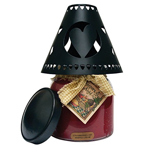 (A Cheerful Giver A Black Heart Tin Candle Shade)