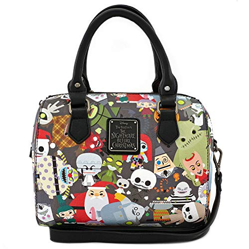 6287fc350f8 Loungefly x Nightmare Before Christmas Chibi Character Print Duffle Purse (One  Size