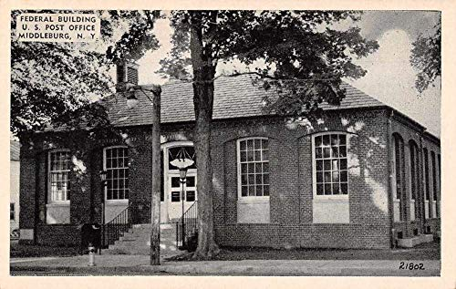 Middleburg New York Post Office Front View Vintage Postcard - View Post Vintage Office