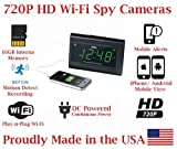 ( 100% COVERT ) SecureGuard 720p HD WiFi Wireless IP Alarm Clock Radio Hidden Security Nanny Cam Spy Camera with 16GB Internal Memory ( 100% COVERT / No Pinhole / No Lights Sounds / No buttons )