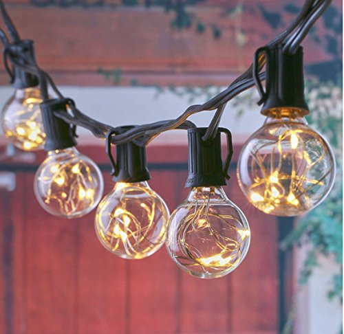 Outdoor Clear Round Globe String Lights in US - 8