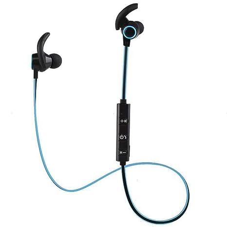 Amiubo Auriculares con micrófono Bluetooth 4.1 Auriculares inalámbricos magnéticos Fit In Ear Funciona con iPhone iPad