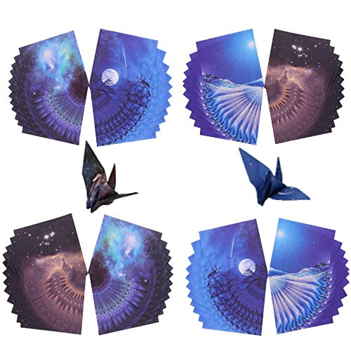 120 Sheets of Beautiful Premium Origami Paper for Creative Minds, DIY Hand Crafts, Arts, 6 by 6 inch, Fine Art Paper Folder Included
