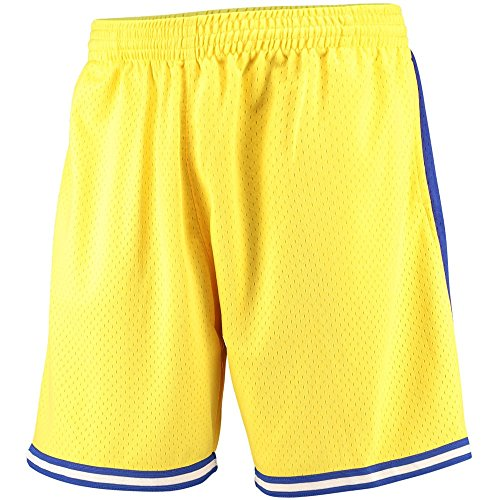 Mitchell and Ness Golden State Warriors 74-75 Mens Mesh Basketball Shorts in Yellow -