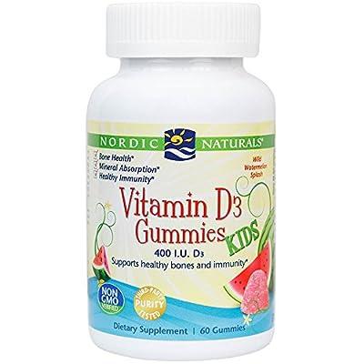 Nordic Naturals - Vitamin D3 Kids Gummies, Supports Healthy Bones and Immunity, 60 Count