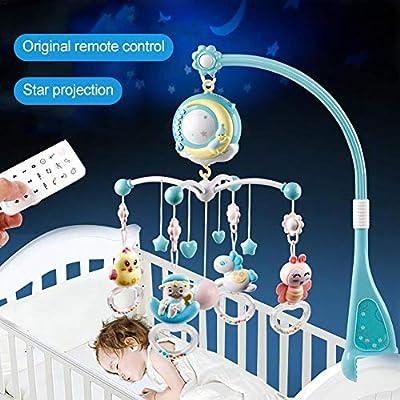 jinclonder Baby Musical Crib Mobile con función de sincronización ...