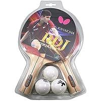 Butterfly Pala de Tenis de Mesa y Juegos de Bolas de Mariposa – Incluye Palas de Ping con Goma y Esponja aprobadas por la ITTF – Incluye Bolas de Ping Pong