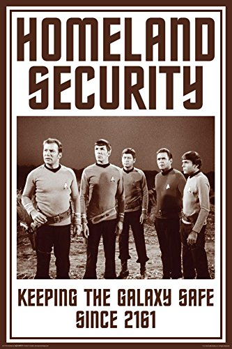 Aquarius Star Trek Homeland Security Poster