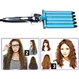inkint Professional Hairstyle Tools-Hair Barrels Curler Titanium Curling Iron Curling Wand Ceramic Curler Hair Styler Hot Hair Curling Roller with Multiple Temperature Choices+World Wide Voltage