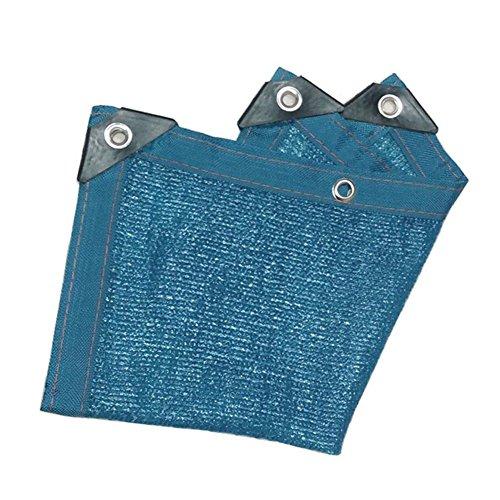 イライラする破壊するワーカーPENGFEI オーニングシェーディングネット 暗号化 カーポート 日焼け止め 農業 温室 スイミングプール バルコニー 断熱 通気性のある、 複数のサイズ (色 : Blue, サイズ さいず : 2x5m)