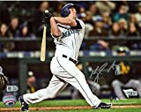 """Kyle Seager Seattle Mariners Autographed 8"""" x 10"""" Hitting Photograph - Fanatics Authentic Certified - Autographed MLB Photos"""