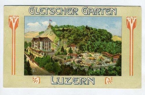 1900's Glacier Garden Labyrinth Lions Monument Booklet Lucerne Switzerland