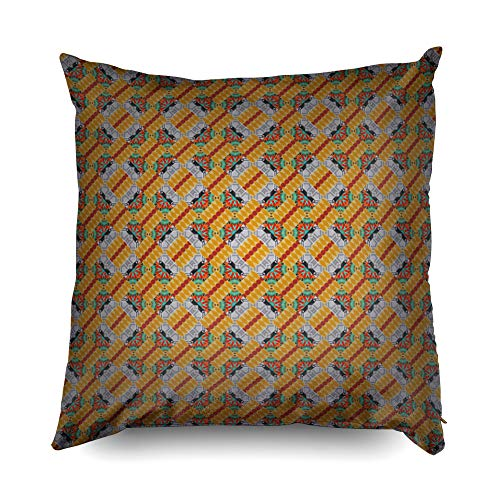 Kid Pillow Covers,Shorping Zippered Covers Pillowcases 18x18 pillow cover Throw Pillow Covers Graphic vector pattern Wallpaper in the geometrical style Beige yellow and gray texture Abstract orn for H