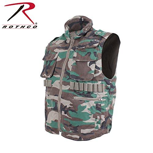 Woodland Ranger Vest - Rothco Vintage Ranger Vest, Woodland Camo, Medium