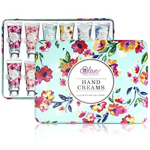 Hand Cream Gift Set - Pack of 12 Hand Lotion Enriched with Shea Butter and Glycerin to Nourish and Deeply Moisturize Rough Hands, 12 x 1.0 oz Travel Size Hand Lotion, Best Gifts for Women