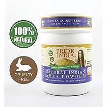 Pride Of India - Herbal Hair & Skin Conditioning Powder, Half Pound, 100% Natural (Natural Amla Powder)