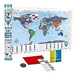 Scratch Off World Map (Scratch Off World Map Flags 68x48cm Gift Tube)