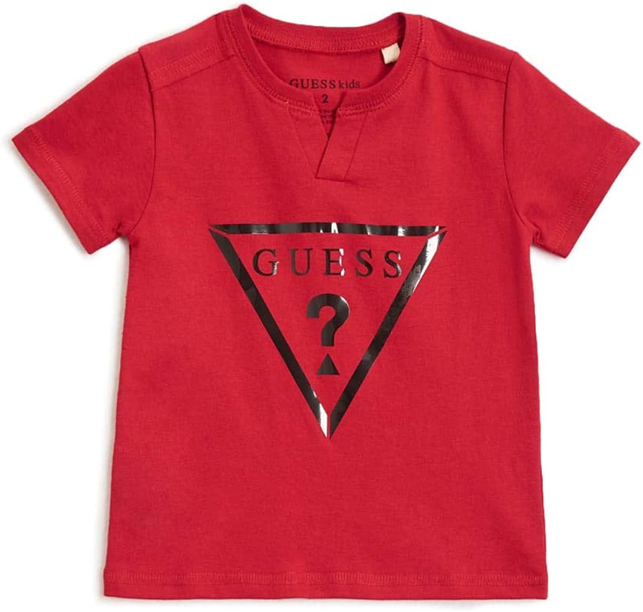 GUESS Factory Kids Boys Barrington Triangle Logo Short Sleeve Tee 2-6