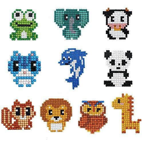 5D Diamond Pianting Kits for Kids Diamond Stickers for Kids Diamond Art Animal Sticker]()