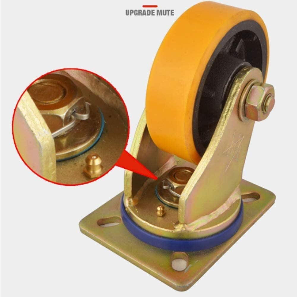 Color : B, Size : 8in Byrhgood 1 Item Heavy Iron Core Furniture Casters,Flatbed Truck Trolley Industry Castor Wheels,Replace Accessories With Brake Bearing Wheel 360 Degree Rotation