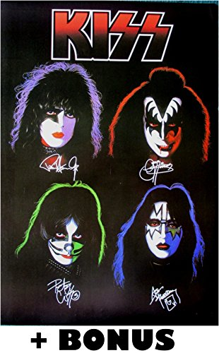 KISS solo album tribute POSTER 14.5 x 21 +BONUS! original lineup Gene Simmons Ace Frehley Paul Stanley Peter Criss (sent FROM USA in PVC pipe)