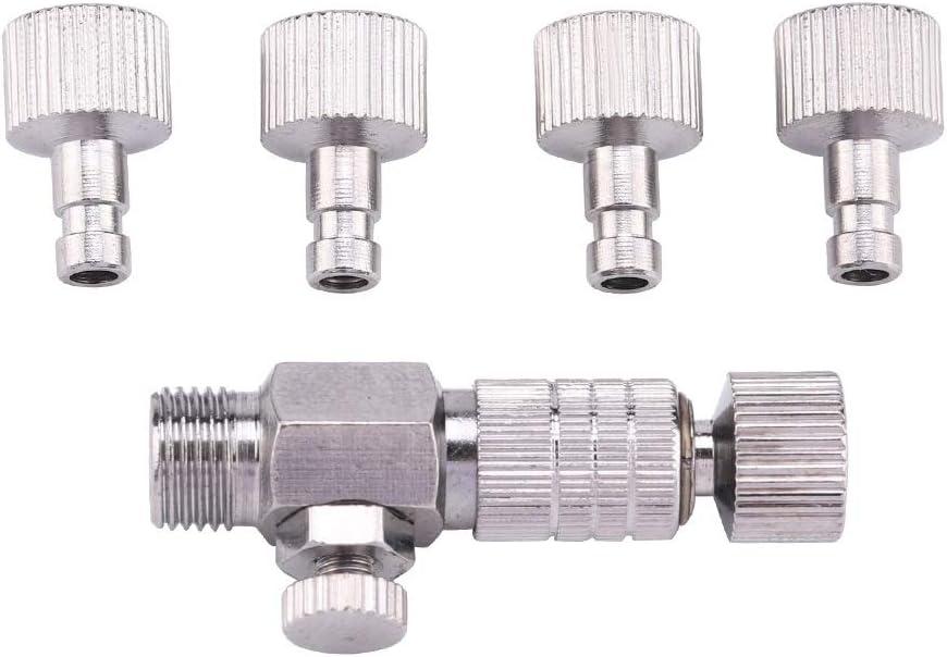 Alupre Caballo de Aire de desconexión rápida Conector Adaptador aerógrafo Conjunto 1/8 '' Parte guarniciones con 4 Herrajes