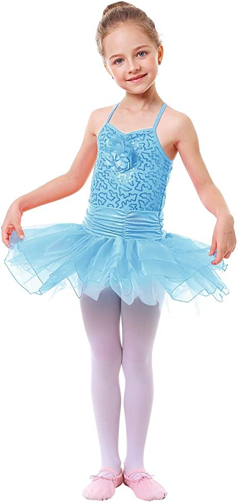 IWEMEK Maillot Vestido de Ballet de Niña de Fiestas Leotardo Tutú ...
