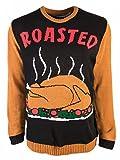 Forum Mens Plus Size Thanksgiving Sweater, Roasted Turkey, tan/Black, X-Large