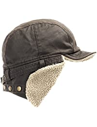 Best Pilot Trooper Aviator Cap Faux Leather Hat Ushanka Trapper Winter ALL SIZES