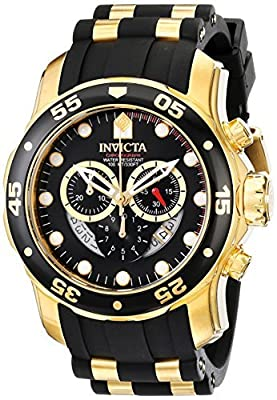 Invicta Men's 6981 Pro Diver Analog Swiss Chronograph Black Polyurethane Watch from Invicta