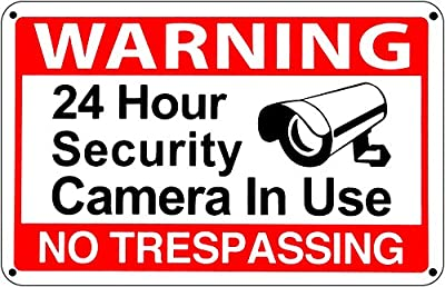 24 Hour Video Surveillance Warning CCTV Sign No Trespassing Security signs