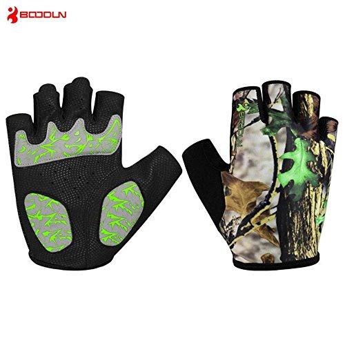 CHSUKHO Gants de cyclisme, gants de fitness demi-doigts, hommes et femmes respirant usure anti-dérapant absorption des chocs campagne