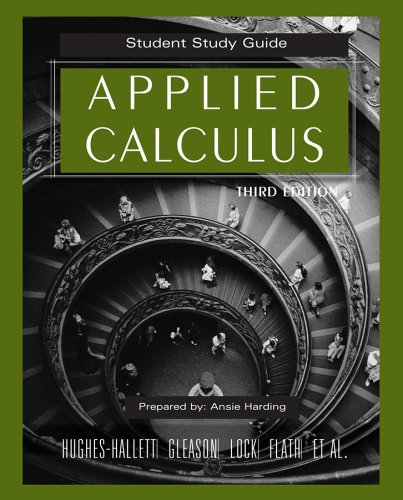 Applied Calculus, Student Study Guide